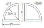 Discount Quarter Round Windows Price Amp Buy Special Shape