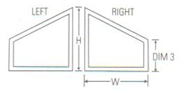 Discount trapezoid windows price buy special shape for Order custom windows online