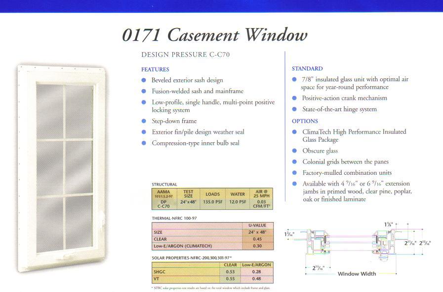 Discount 4 Lite Casement New Construction Windows Price