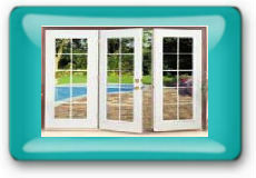 3-Panel Hinged Patio Door