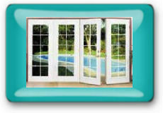 4-Panel Hinged Patio Door