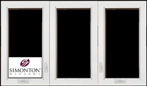 S508 - Simonton 3-Lite Casement Windows