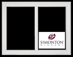 SNC102 - Simonton 2-Lite Single Sliding Vinyl Windows