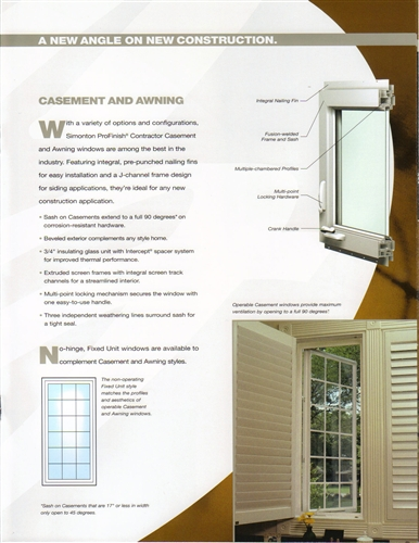 Discount 3 lite casement new construction windows price for Order house windows online