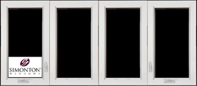 SNC440 - Simonton 4-Lite Casement Windows