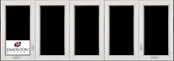 SNC450 - Simonton 5-Lite Casement Windows